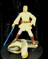 Star Wars Saga - Attack of the Clones: Obi-Wan Kenobi Coruscant Chase - Complete Loose Action Figure